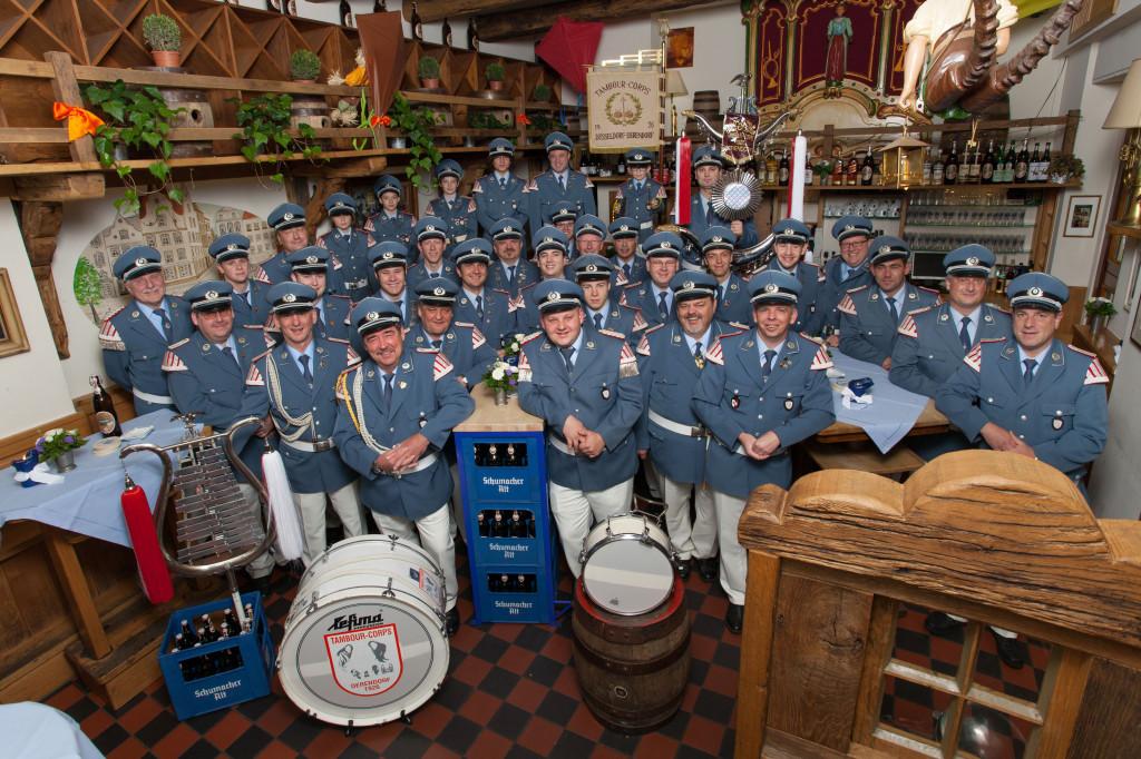 """Das Corps im Jahre 2012 (in der Gaststätte """"Zum St. Sebastian"""")"""